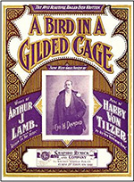 "Tapa del cuaderno de la canción ""A Bird In A Gilded Cage"" publicado en 1900 (canción en http://www.youtube.com/watch?v=gEUmc5Uuwy8)"