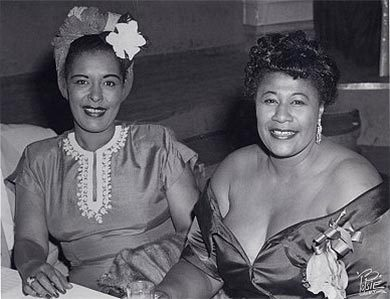 Billie Holiday y Ella Fitzgerald en 1947.
