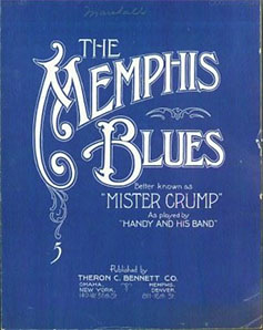 "Partitura de ""The Memphis Blues"" publicada por Theron C.Bennett Co."